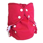One Size Duo Pocket Diaper *seconds* Pomegranate