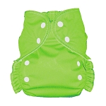 One Size Duo Pocket Diaper *seconds* Froggy Green