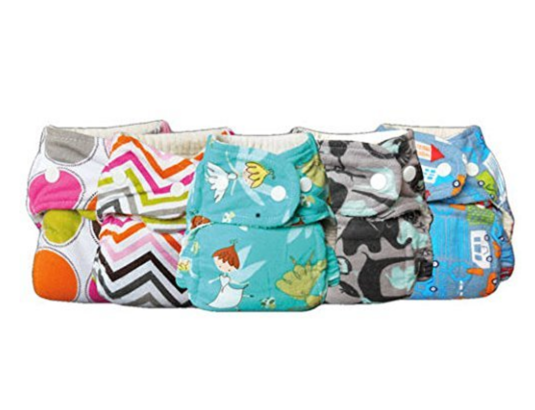Bummis One-Size Flannel Fitted Diaper