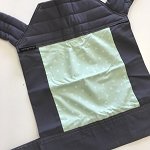 Baby Hawk Carrier - Bermuda Triangle on Charcoal