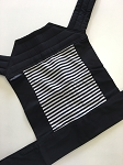 Baby Hawk Carrier - Seriously Striped on Black