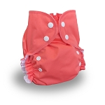 One Size Duo Diaper Coral