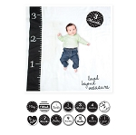 Lulujo Baby's First Year Blanket & Cards Set - Loved Beyond Measure