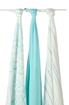 Azure swaddle Bamboo muslin collection 3 pack