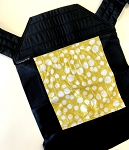 Baby Hawk Carrier - Yellow Blossom on Black