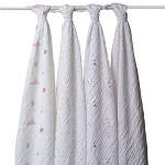 Lovely swaddle classic muslin collection 4 pack