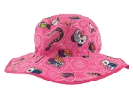 Adjustable Banz Sun Hat - Pink Critters