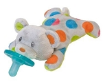 WubbaNub Polkadot Bear Plush Pacifier