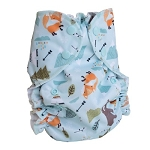 One Size Duo Diaper The Fox and the Bear