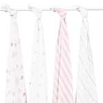 Heart Breaker swaddle classic muslin collection 4 pack