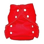 One Size Duo Pocket Diaper *seconds* Red