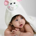 Zoocchini Hooded Towel - Lola the Lamb