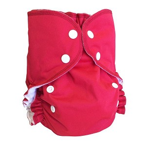 One Size Duo Diaper Pomegranate