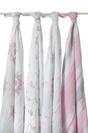 For the Birds swaddle classic muslin collection 4 pack