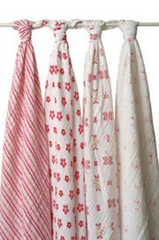 Princess Posie swaddle classic muslin collection 4 pack