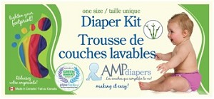 AMP One Size Bamboo Diaper Box Kit