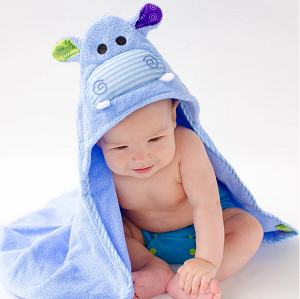 Zoocchini Hooded Towel - Hippo