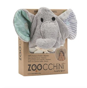 Zoocchini Hooded Towel - Elephant